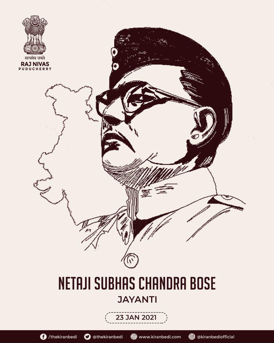 Our Tributes to Netaji Subhash Chandra Bose, a brave freedom fighter, on his 125th birth anniversary.  #ParakramDiwas  #NetajiSubhashChandraBose  #Netaji125   @thekiranbedi