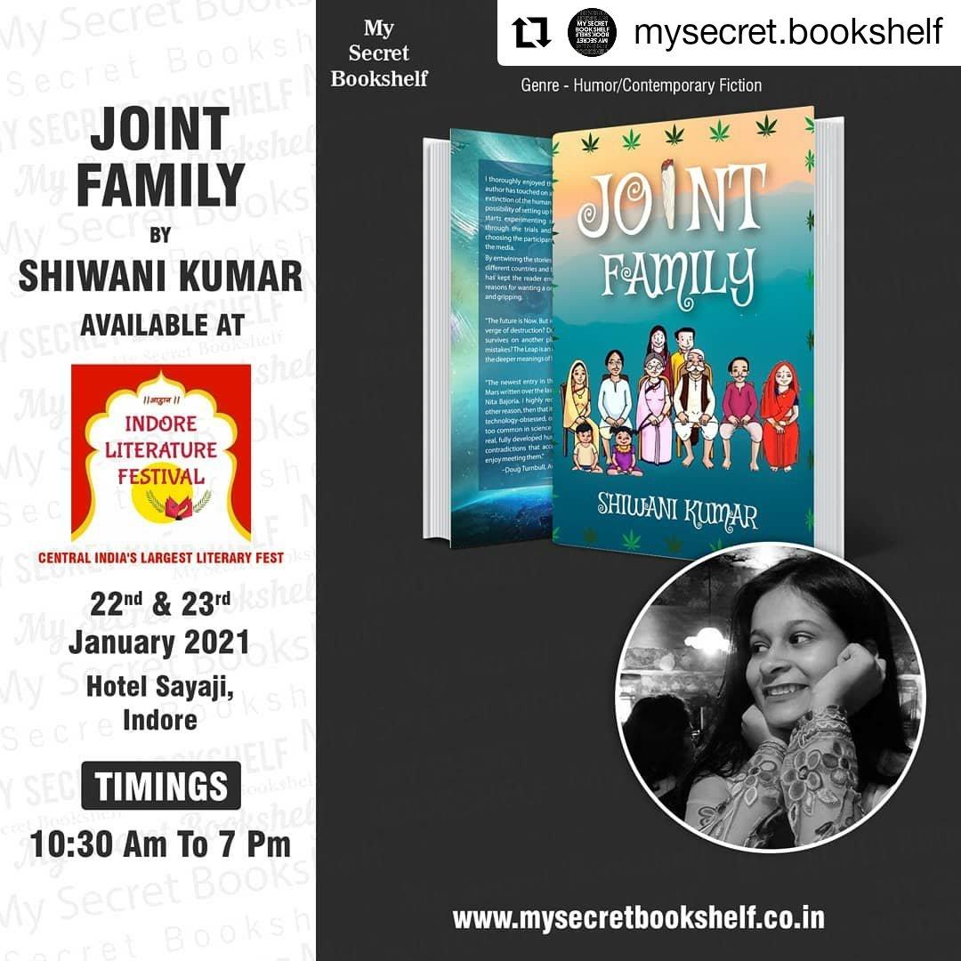 Joint Family going places🥳🤩@indorelitfest @mysecret.bookshelf . . . . . #JointFamily #jointfamilybook #story #novel #releasedworldwide #Historified #HistoryinEveryBit #HistoryFactsRelax #bookrealease #novel  #novels #novelwriting #bookstagram  #booklover #book #booknerd