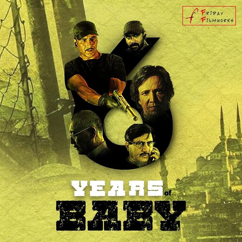 The journey of Baby completes six years today.  @akshaykumar @AnupamPKher @RanaDaggubati @taapsee @kaykaymenon02 #DannyDenzongpa @neerajpofficial @ShitalBhatiaFFW @manojmuntashir @PlanC_Studios   #FridayFilmworks #6YearsOfBaby #Baby #Anniversary #Bollywood #Movies https://t.co/zhSqjSOIsg