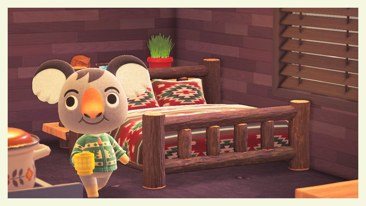 Good morning from cozy Ozzie <3  #AnimalCrossing #ACNH #NintendoSwitch #Ozzie #acnh #cute https://t.co/7XkBrefaBM