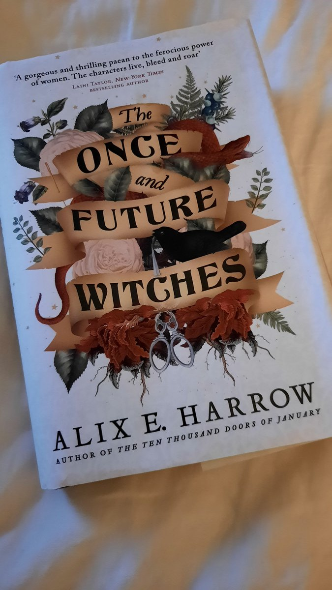 Best novel EVER! Exquisite writing. Brilliant storytelling.  How can I ever read another book again? Apart from The Ten Thousand Doors of January which I shall start today. Thank you  @AlixEHarrow   #Novel  #WritingCommunity  #author  #witchcraft #women #Patriarchy  #writing