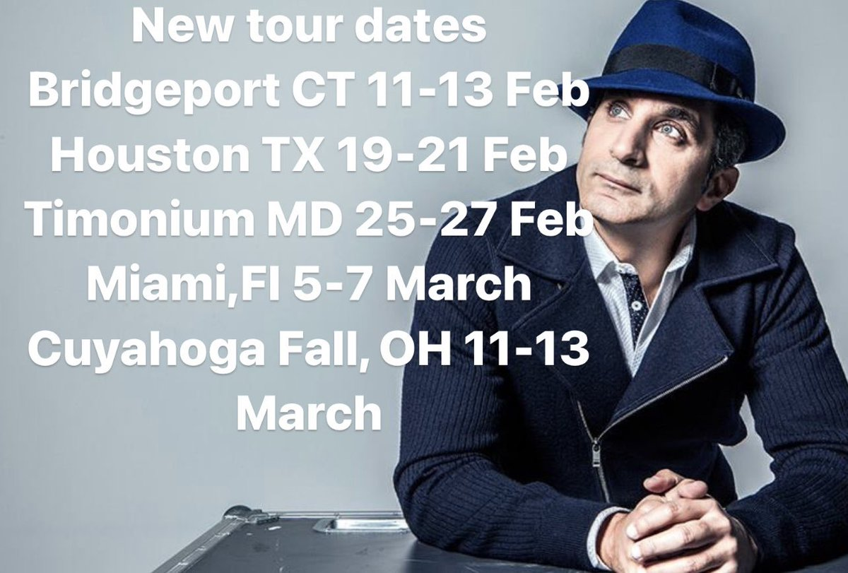 Announcing new tour dates. Check for tickets on my website