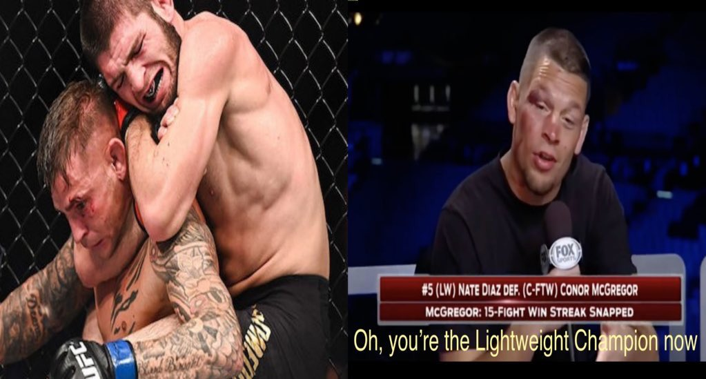"It has now been a WEEK filled with countless McGregor memes, post after post trashin him, and claims that Poirier is the champ. Well, in the words of Dana White, ""I'VE GOTTTA SURPRISE FOR U MOTHERFUCKERS!"" Original MarkerMeme more 2 come #UFC257 #McGregorPoirier #UFC #MMATwitter"