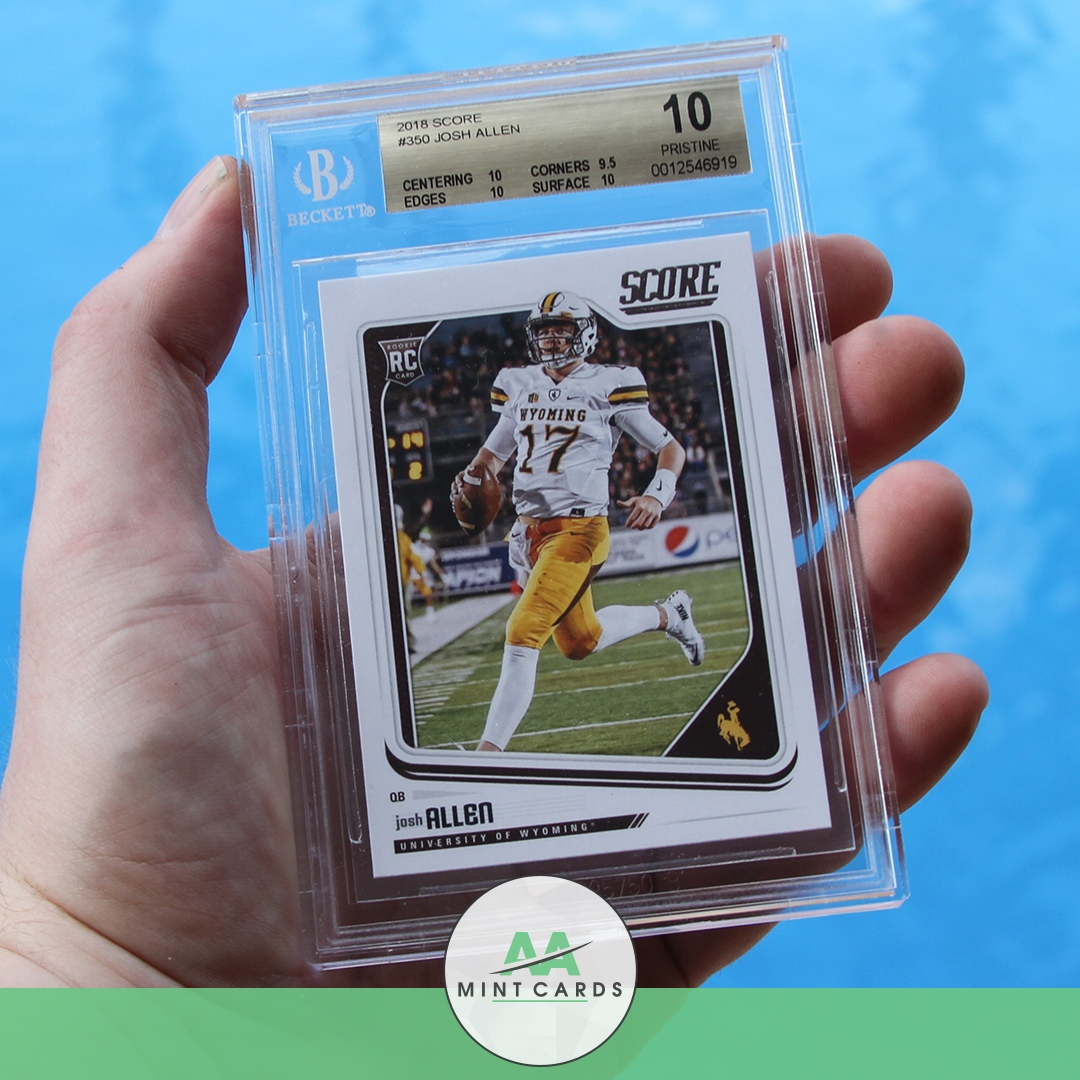 🏈🏆@uofwyoming @WyomingCowboysFans @BillsFans check out 👀 2018 #Score @JoshAllen #Beckett #Pristine ✨10 rating! #memorabilia sells hot and ⚡fast. Buy Now!  . . . . . #AAMintcards #WyomingCowboys #Playoffs #DivisionalRound #AFCchampionship #ProBowlWeek