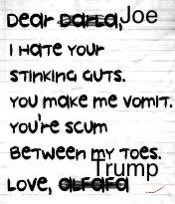 #TrumpsNoteToBidenSaid