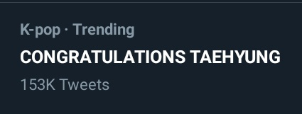 Congratulations Taehyung is trending on twitter CONGRATULATIONS TO OUR TAEHYUNG🥰💜🎉🎉🎉 #SweetNightBestOST #SweetNight_BestOST상_축하해  @BTS_twt