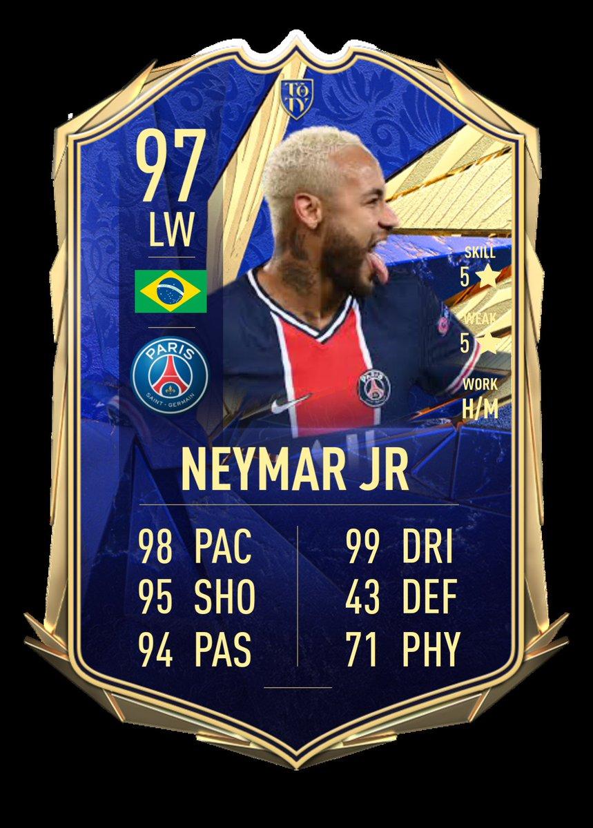 もしもTOTYネイマールが来たら、こんな感じ?12人目のYで来るかな〜w If Team of the year Neymar jr. comes in FUT21, like this? #FIFA21  #FUT21  #TOTY  #toty21  #TeamOfTheYear  #Neymar  #neymarjr  #PSG  #ParisSaintGermain  #Prediction  #サッカー