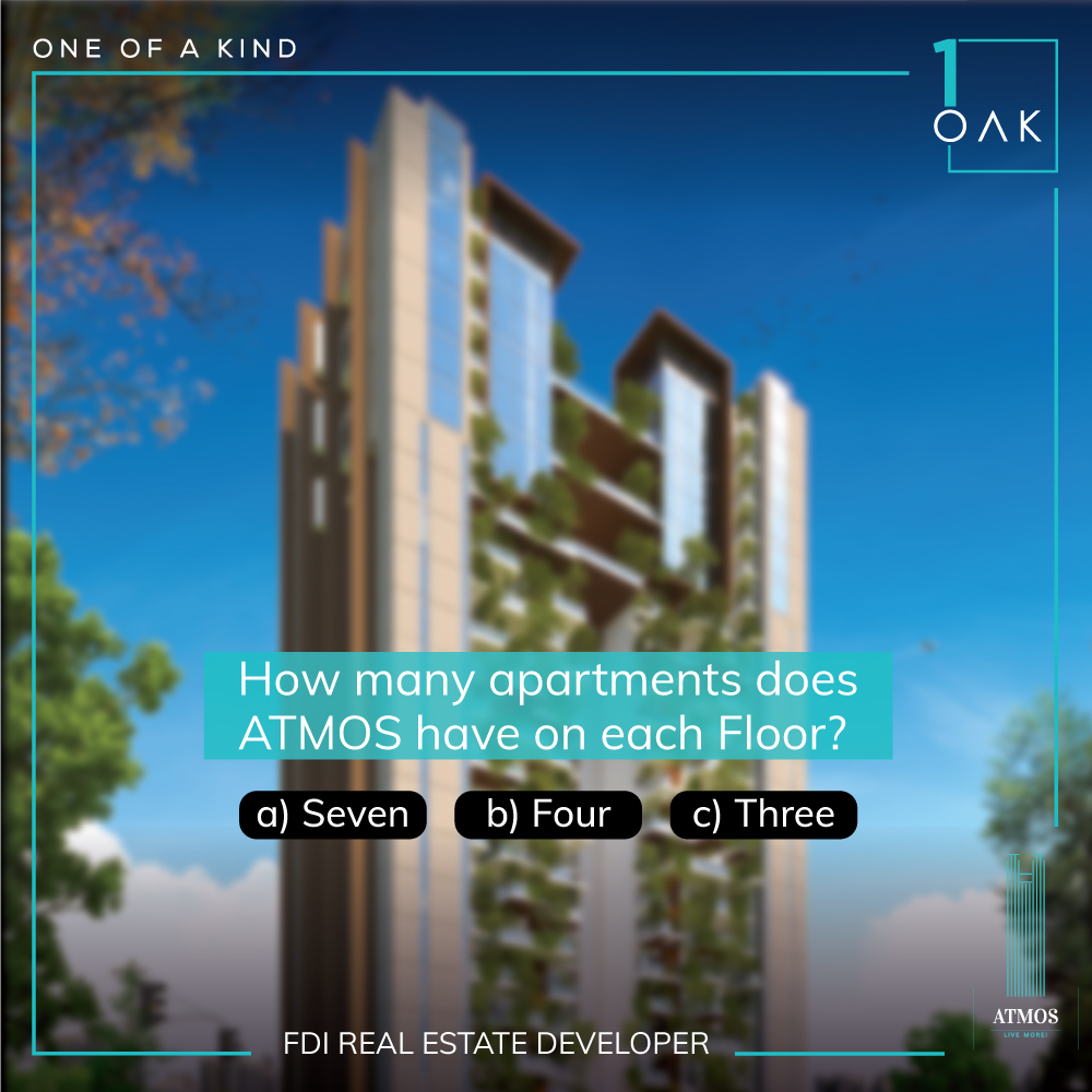 Hint: We are the lowest density single tower in Lucknow! Wear your smart caps on and let us know in the comment section below. Follow us, tag your friends and participate.  #Contests #ContestsIndia #ContestAlert #QuizTime #1OAK #LuxuryLiving #LiveMore