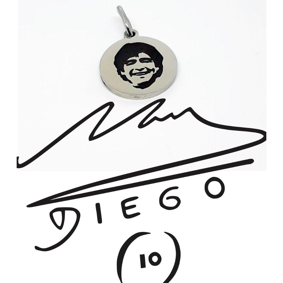 Medalla de Acero  #Maradona #D10S #Idolo #campeones #joyaspersonalizadas #tallerpropio