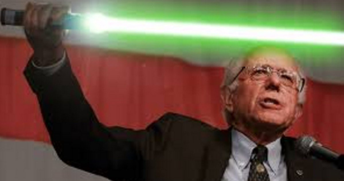 """Don't trust,those Jedi. Bernie is one of em!"" #TrumpsNoteToBidenSaid"