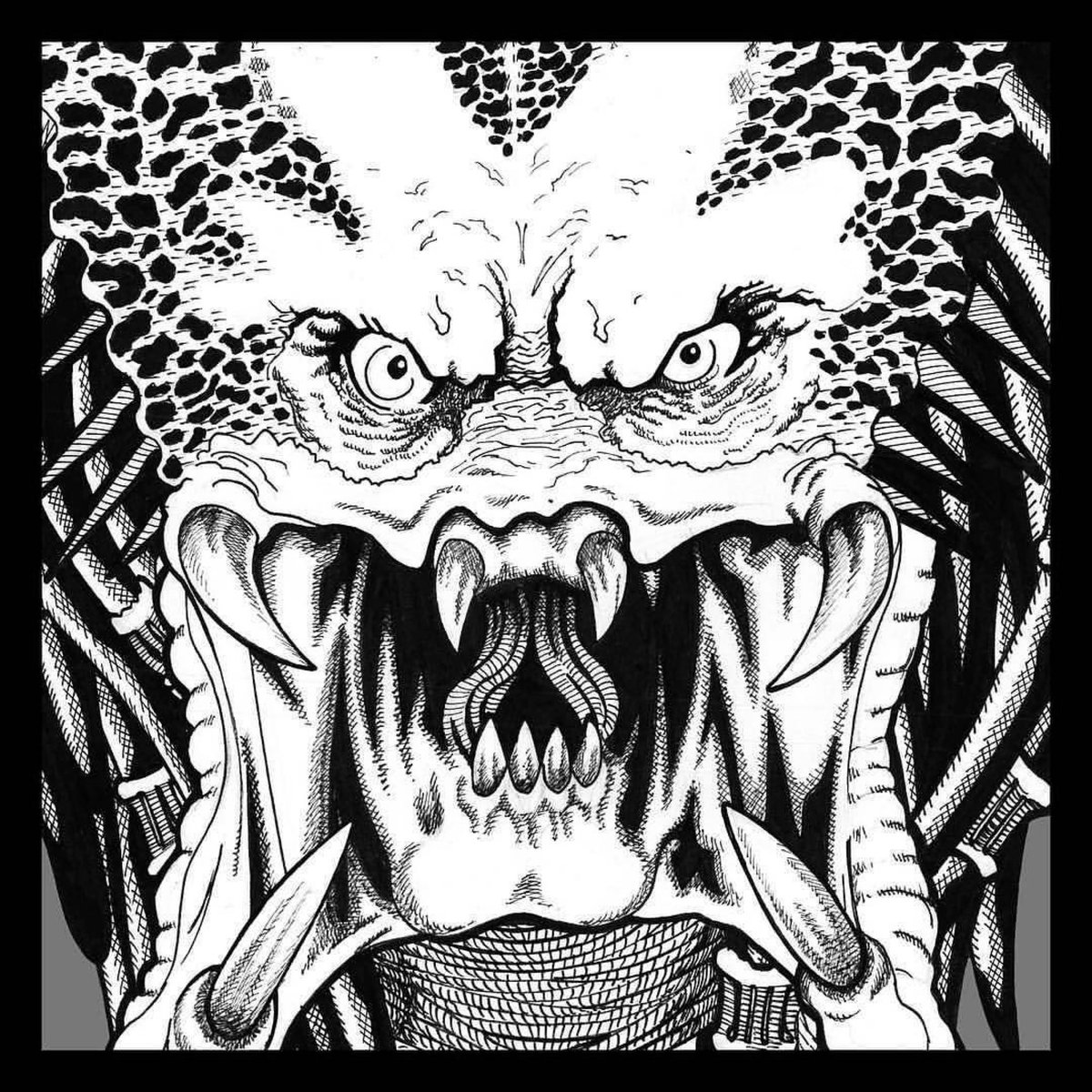 One of these days I'll color this thing! #fbf to the PREDATOR I did a few years back!  #Predator #gettodachoppa #1987 #80smovies #scifi #myart #fanart #bigdogsstudio #moviemonsters #stanwinston #predatorrart #predators #predatormovie #predatorfanart
