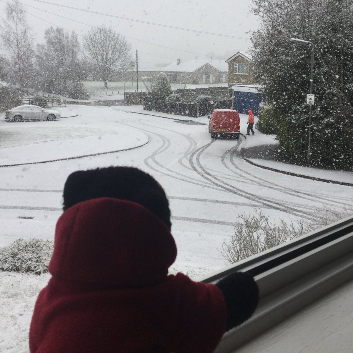 Day 304 of Isolation:  It's snowing again!  I'm glad the postman made it through with my honey delivery!  🐻🍯📫❄️  #SaturdayMorning #SaturdayMotivation #SaturdayVibes #Snowing #snow #coronavirus #COVID19 #coronavirus #StayHome #StaySafe