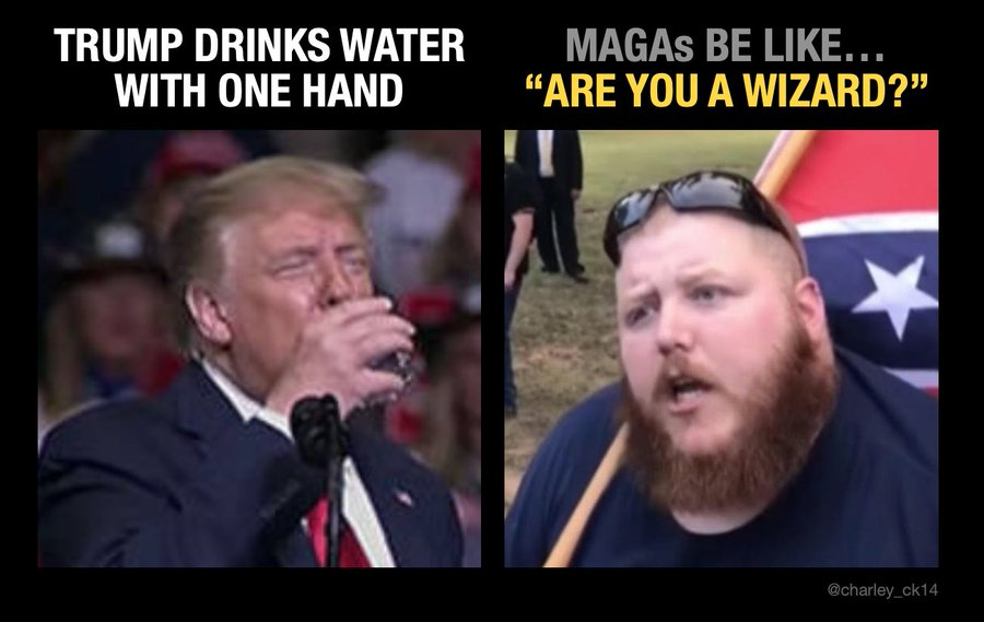 #TrumpsNoteToBidenSaid I can drink with one hand