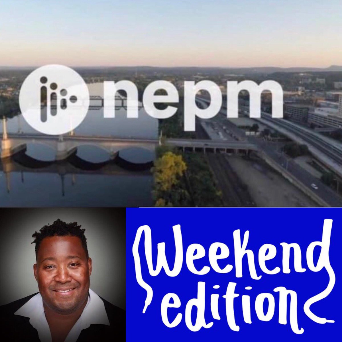 """Shifting gears and kicking off this #SaturdayMorning back on the airwaves of @nepublicmedia (WFCR 88.5 FM — Amherst, Springfield, Hartford; @NPR App, ) as yours truly has regional News Anchoring duties during """"Weekend Edition"""" every hour from 8am to 12pm."""