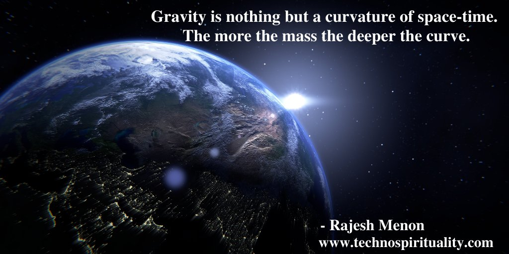 """Gravity is 1 of the 4 forces of nature""  #gravity #nature #einstein #space #time #quote #quotes #technospirituality #saturday #saturdaymood #saturdaythoughts #saturdayvibes"