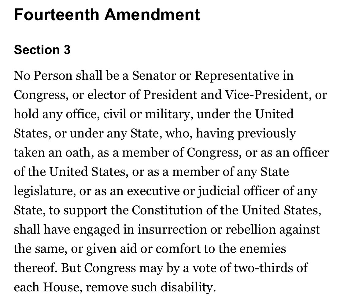"congress needs to get off of their asses, uphold the 14th amendment, and expel each member that had anything to do with the ""stop the steal"" seditious farce that lead to an attempted insurrection. #ExpelTedCruzNow #ExpelTheSeditionists #ExpelHawley"