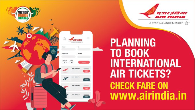 #FlyAI : Before you book your tickets for flights under Vande Bharat Mission Phase 8/ Air Transport Bubble Arrangements, please check fares of on