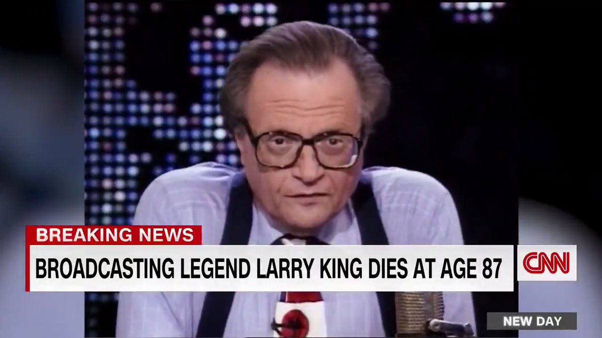 Larry King, the longtime CNN host who became an icon through his interviews with countless newsmakers and his sartorial sensibilities, has died. He was 87.