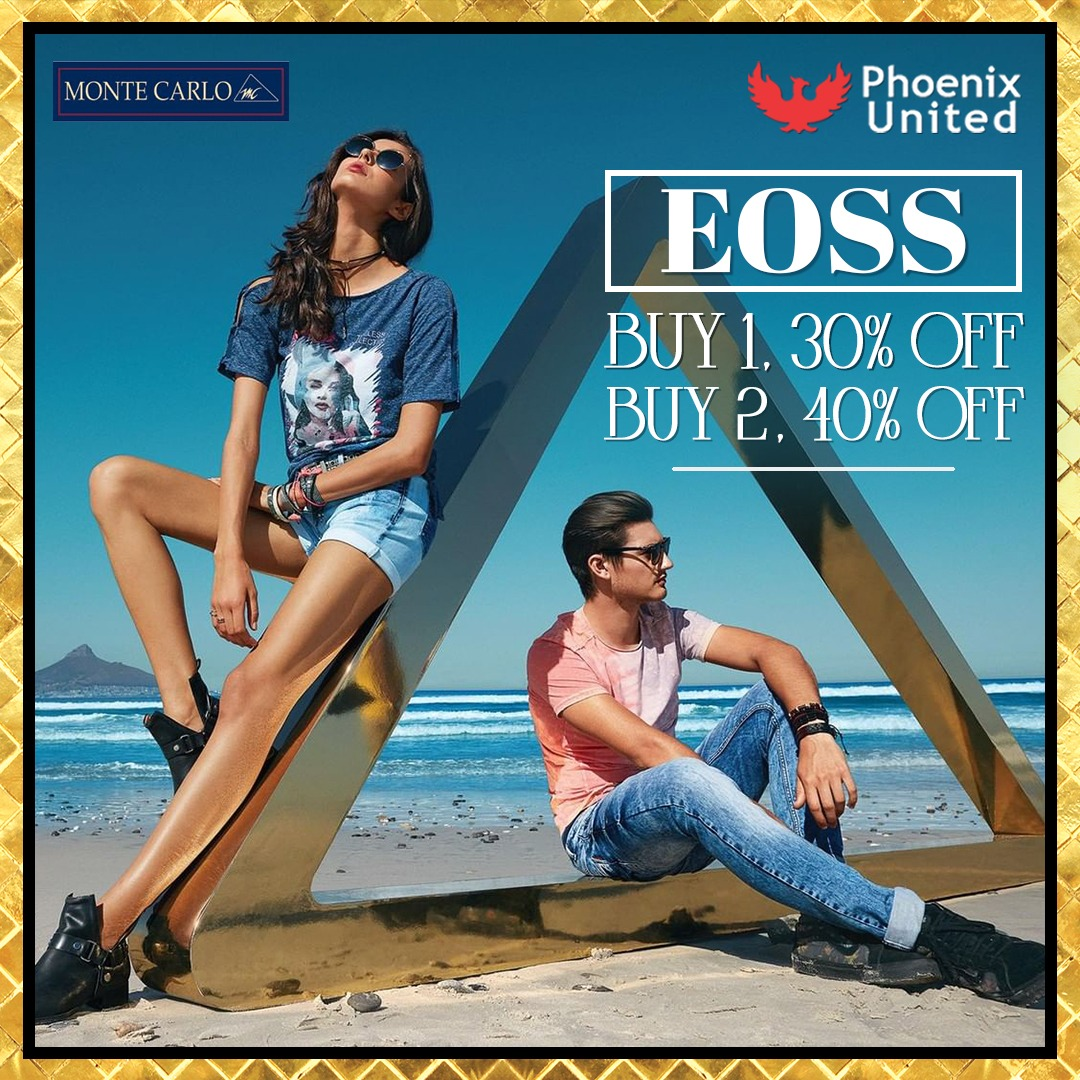 Head to Phoenix United, Alambagh to shop from amazing offers at @montecarlostyle this end of season sale. . . . . . . . . . #EndOfSeasonSale #Sale #saleislive #EOSS #SaleOffer #discounts #montecarlo #montecarlosale  #Phoenixunitedlucknow