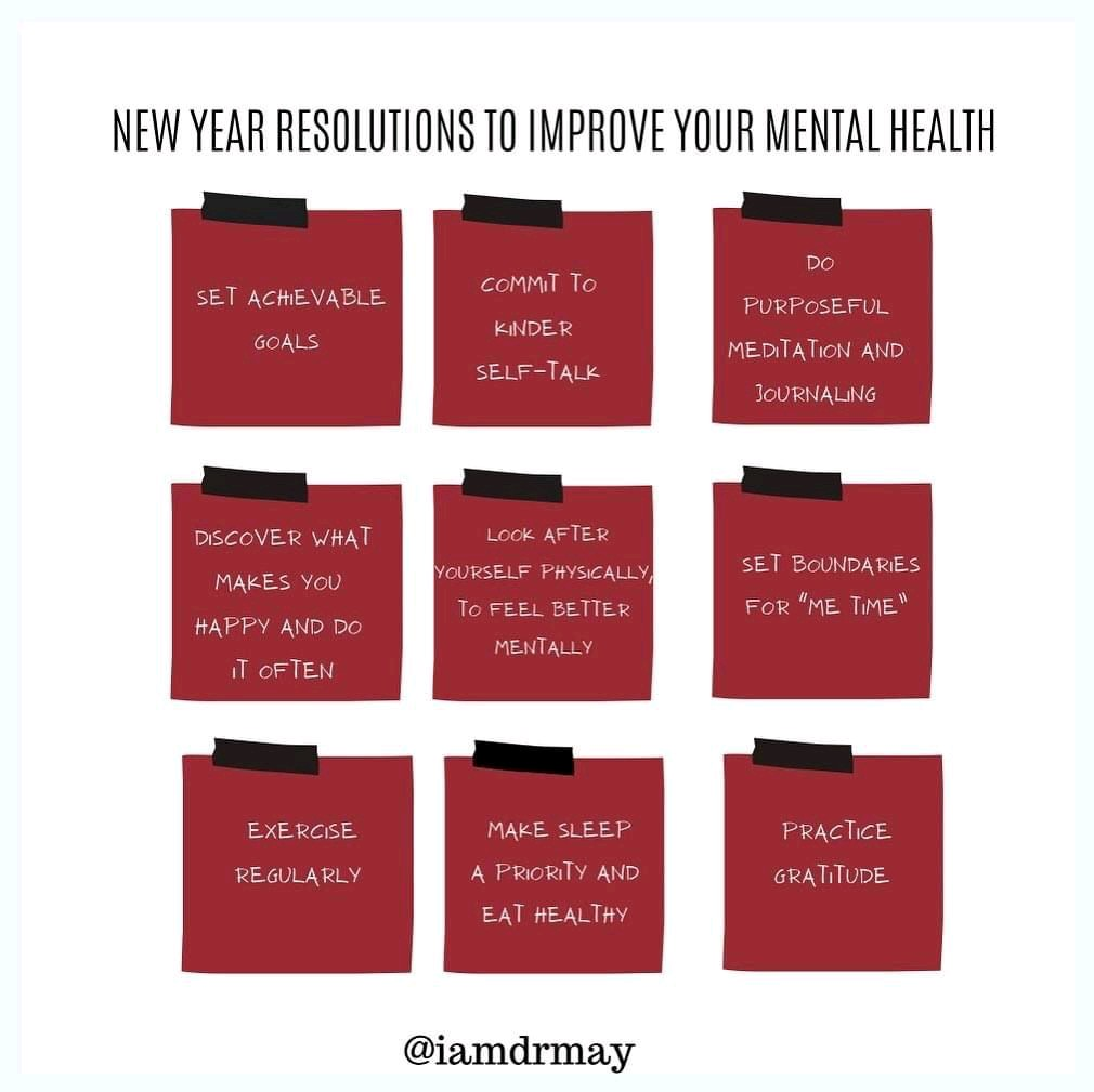 Mental health is not the same as mental illness.  Make small changes to your daily routine to boost your wellbeing this year.  #larryking #Newsfile #TheBigIssue #CelebratingAmerica #MeToo #berniesmittens #Welcome2021