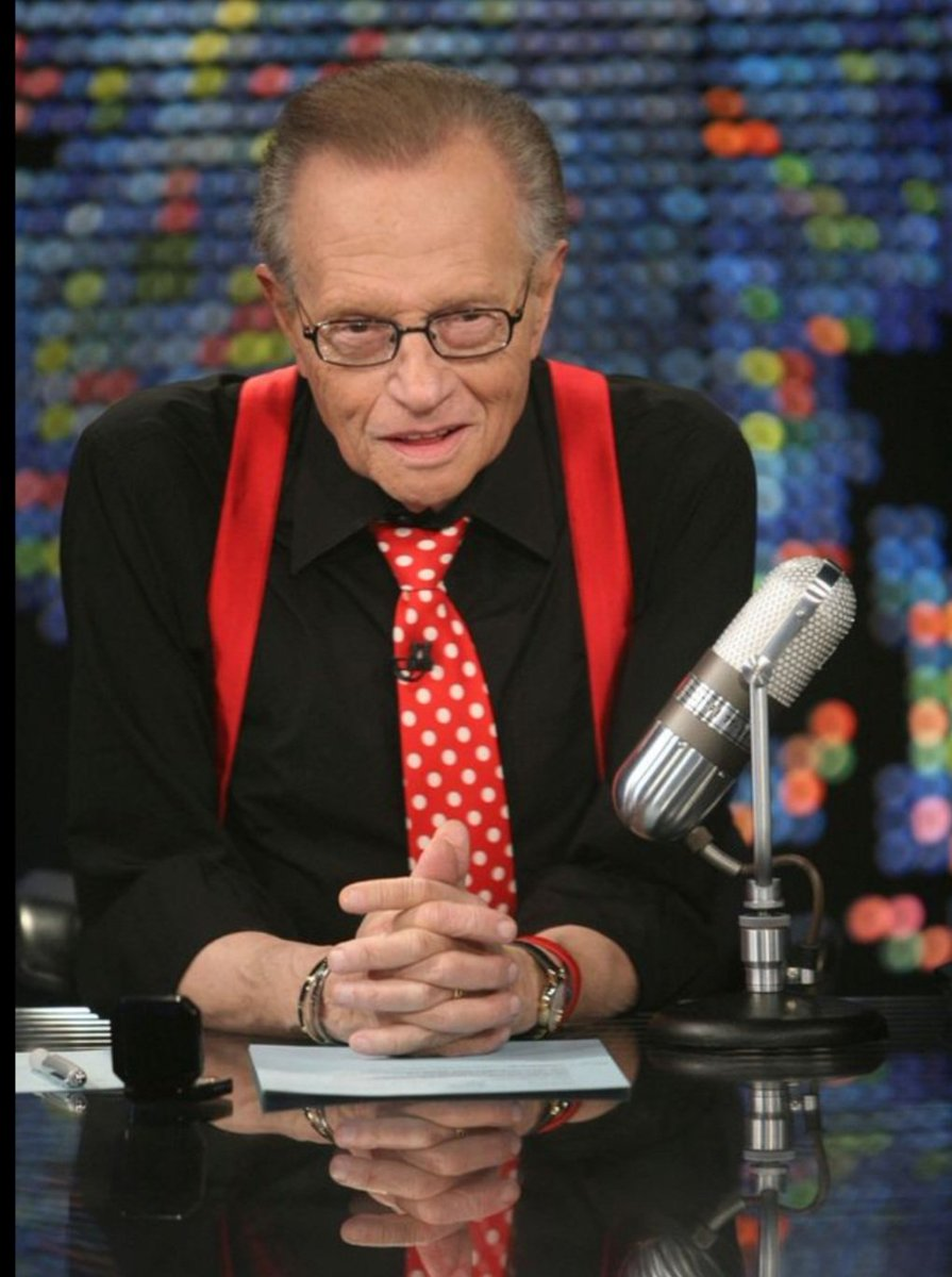 One of the all time great television and radio hosts!! RIP #larryking 🙏