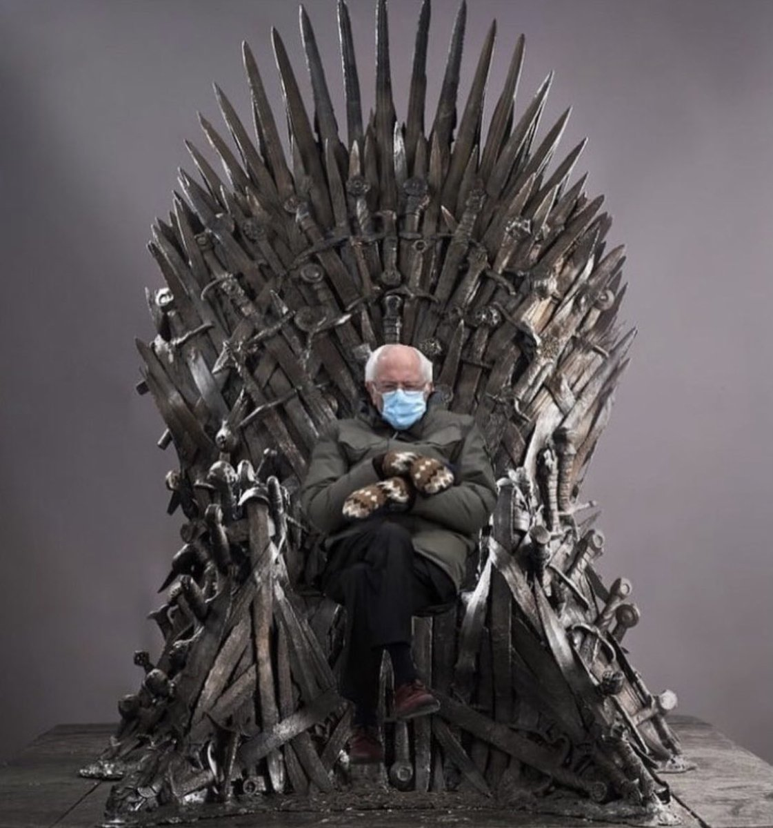 One chair to rule them all #BernieSanders #GameOfThrones #InaugurationDay