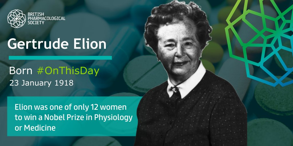 #OnThisDay Gertrude Elion was born in New York City, to European immigrants. Elion was an excellent student and graduated high school at 15. She was inspired by her grandfather at that same age, to pursue a career in science & medicine in college, when he died of stomach cancer.