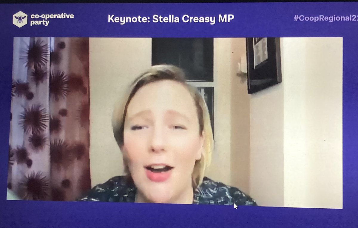 @stellacreasy reminds us of our cooperative past at #CoopRegional21 & how volunteers & mutual aid have helped our front line services during #Covid19UK & how the coop movement is central to our recovery with democratic business models @CoopParty @party_suffolk
