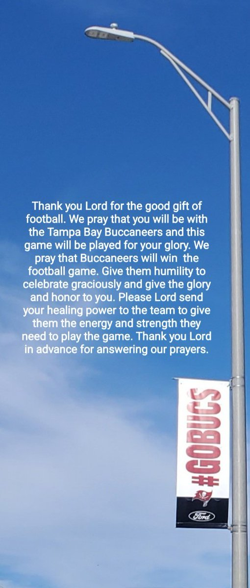 Thank you Lord in advance for ___?? #Bucs #Buccaneers #AllThingsBucs #TampaBayBuccaneers