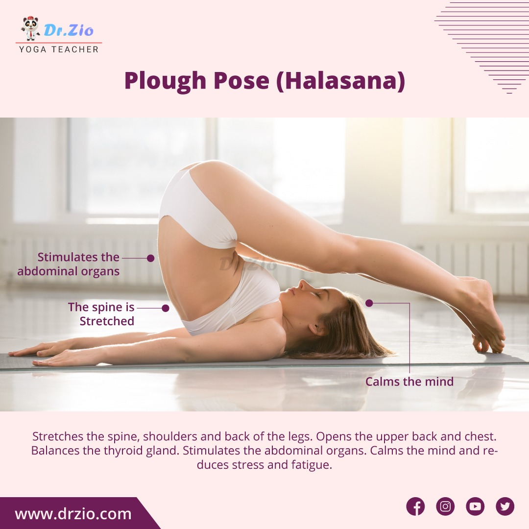 Plough Pose ( Halasana ) Yoga    #drzio #yoga #fitness #gym #workout #fitnessmotivation #motivation #fit #bodybuilding #love #training #health #lifestyle #instagood #fitfam #healthylifestyle #sport #instagram #healthy #like #follow #gymlife #life #bhfyp