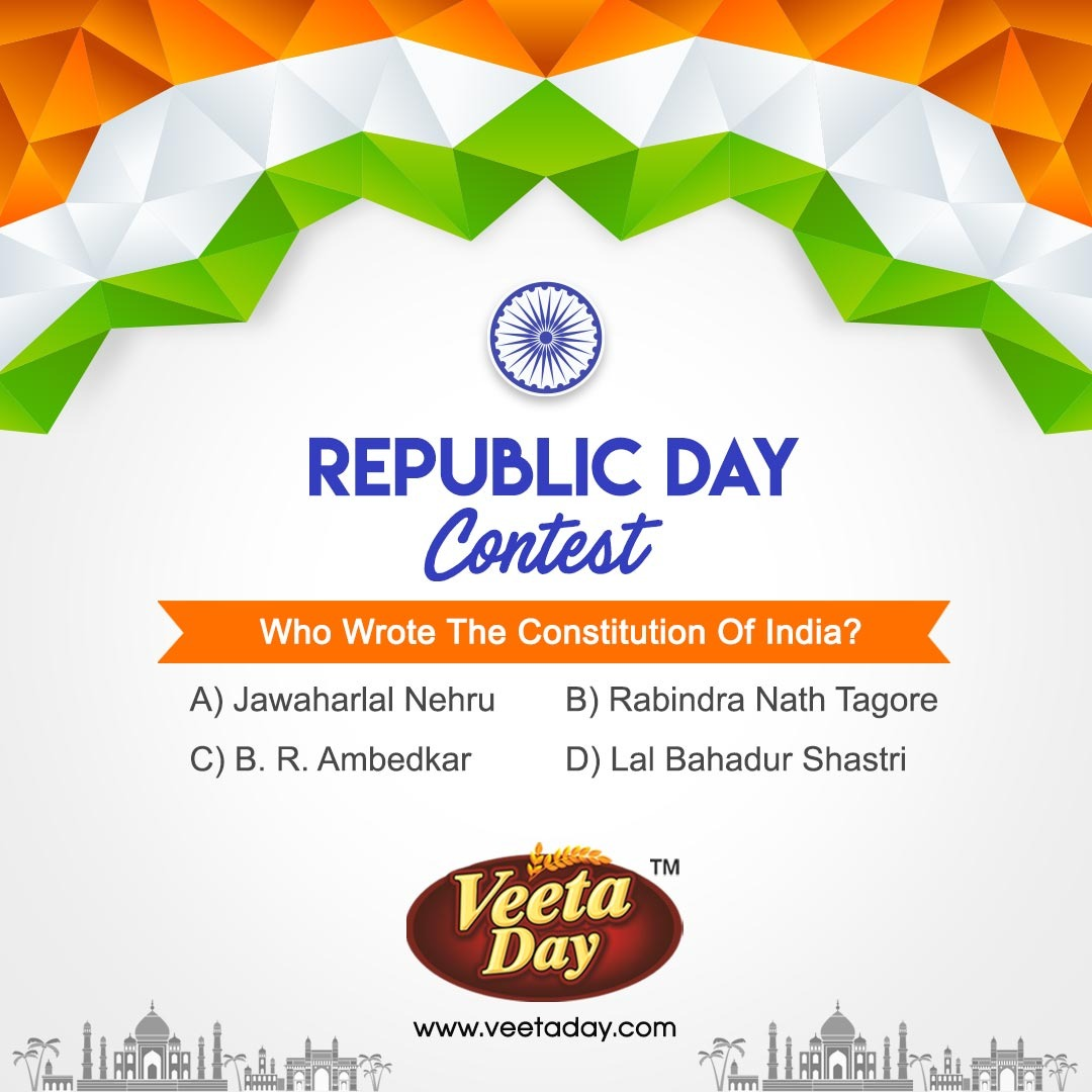 #Republic _Day_Quiz #Quiz_Time   Did you know about it?🤔  🔴 Rules: ☑️ Upload the story on your Fb page and share photo in the comment section. ☑️Tag your 5 friends.  #ContestTime #Contest  #VeetadayRusk #Crunchy