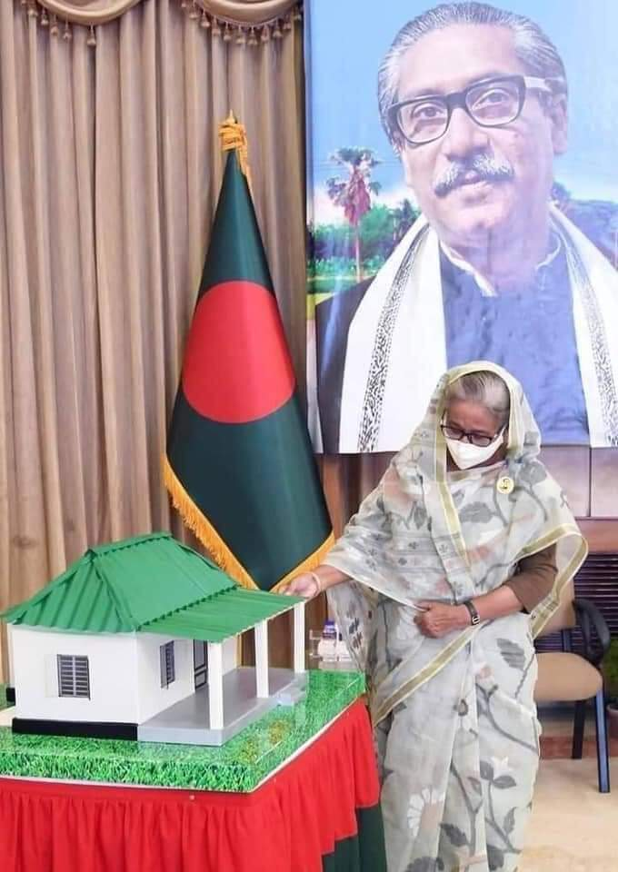 HPM #SheikhHasina inaugurated the distribution of govt #housing among 66,189 homeless families in #Bangladesh under her signature #Ashrayan2 Project, the largest such #shelter scheme to mark #MujibYear; 100,000 more houses to be handed over next month. #MujibYear #SocialJustice