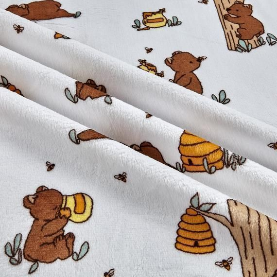 Very #Beary #Banana  #Minky fabric  #Bears #baby #ShannonFabrics #Minky #Fabric, #Shannon #CuddleMinky, Cut to Order,  #Supersoft #QuiltBack #Sewing #Quilting  Free Domestic shipping on orders over $35
