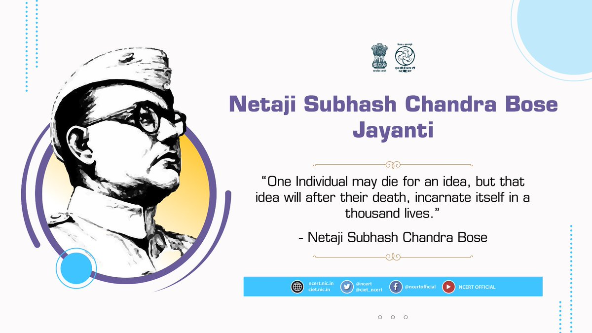 Celebrating the valour of freedom fighter Netaji Subhas Chandra Bose on his 125th Birth Anniversary by embracing his undeniable devotion and contribution towards the independence of the nation. Webinar on Netaji's life and contribution 3pm to 4:30pm