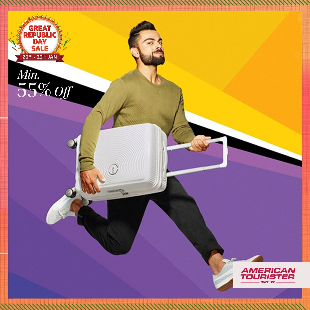 Planning to travel in '21? Then the sturdy suitcases & backpacks from @AMtouristerIN is just the thing for you! Shop now during the #AmazonGreatRepublicDaySale & get them at min. 55% off:    #AmericanTourister #Luggage #AmazonFashion #HarPalFashionable