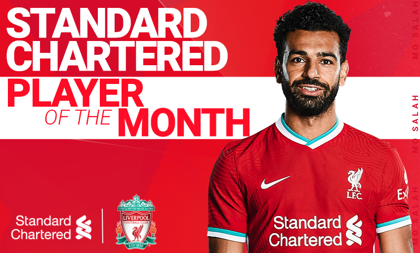.@MoSalah has been voted your @StanChart Player of the Month for December 👏  Well in, Mo 🙌