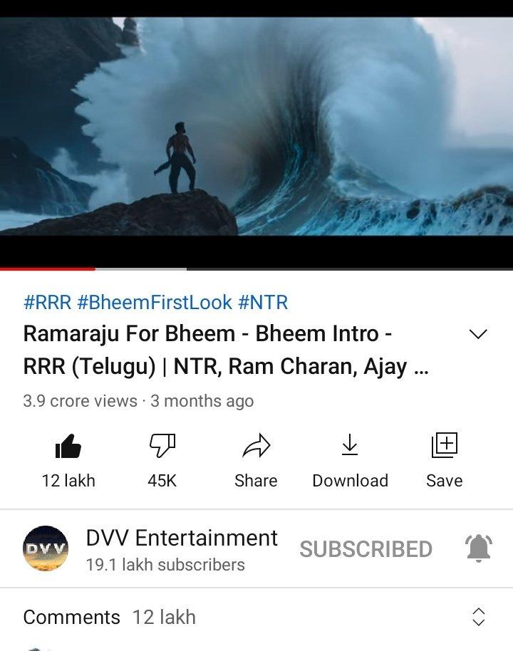 1.2 Million Comments For #RamarajuForBheem 💥💥  🔹World's Most Commented Movie  Teaser/Trailer on YouTube▶️   🔹First ever Telugu Teaser/Trailer  to reach 50K to 1.2M Comments 😎💪        🔥 BHEEM STROM 🔥  #RecordBreakingBheemTeaser #RRRMovie #RRR @tarak9999