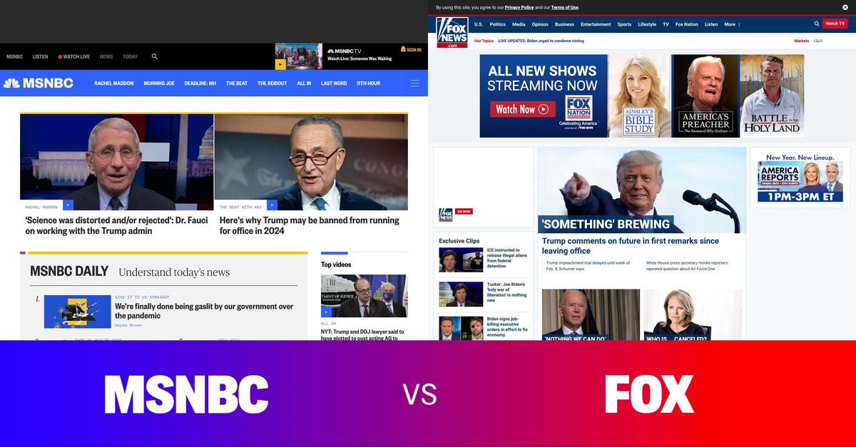 Side by side comparison of the news. Comment on overt bias or under-reporting. Share to support an informed democracy. #news #politics #media #msnbc #cnn #fox - More at: