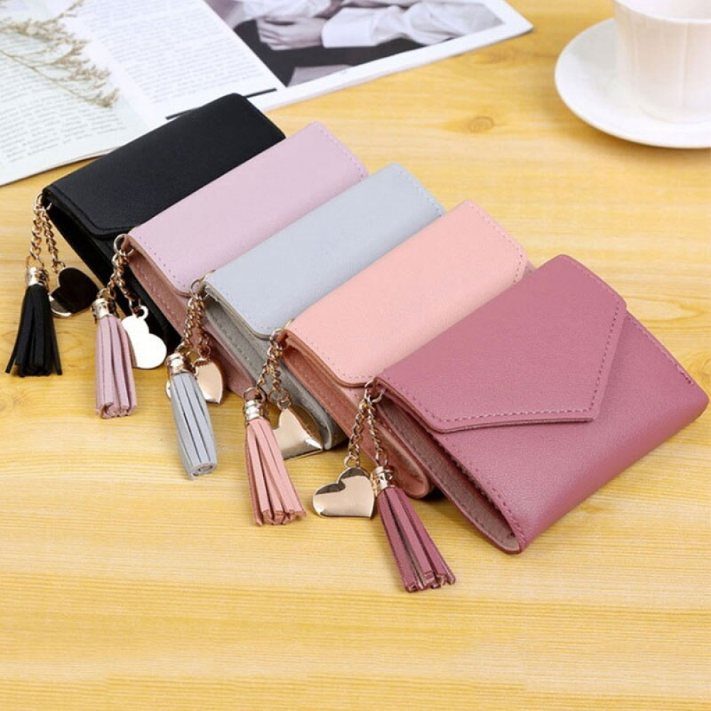 Women's Compact Wallet with Tassel #sneakers #hair