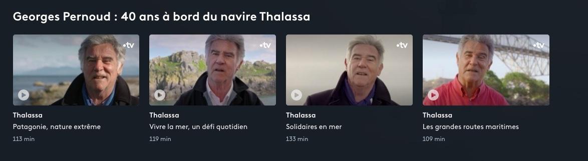 Georges Pernoud : 40 ans à bord du navire #Thalassa 💙 ⬇️ Retrouvez 4 reportages en exclusivité sur #FranceTV https://t.co/H3oFipYKtC 🔹Patagonie, nature extrême 🔹Vivre la mer, un défi quotidien 🔹Solidaires en mer 🔹Les grandes routes maritimes https://t.co/68tqwnyZfh