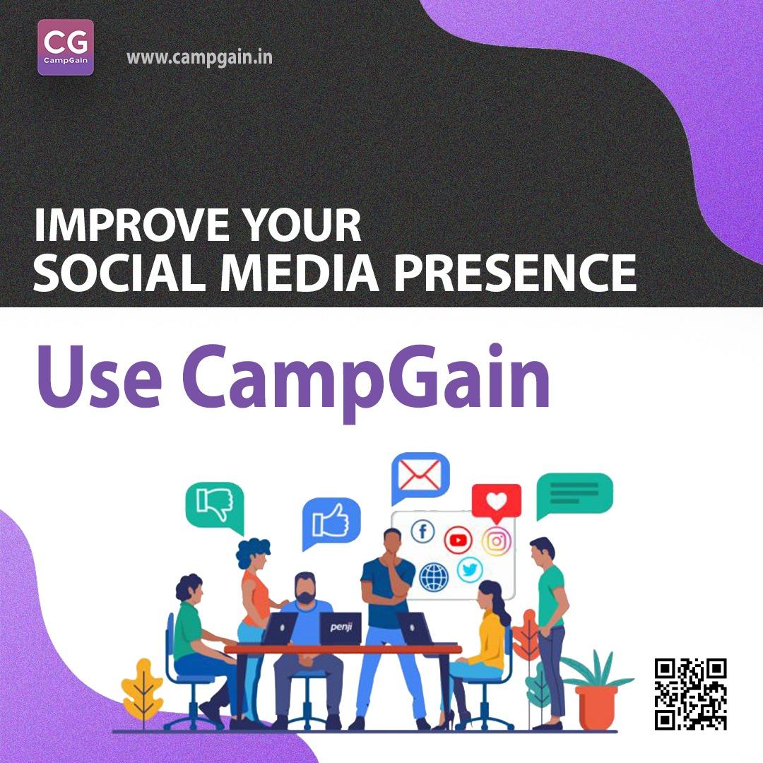 Use CampGain Improve Your Social Media Presence   #politicalcampaign #marketing #socialmediamarketing #digitalmarketing #branding #marketingdigital #onlinemarketing #digital #socialmediamanagement #brand #marketingagency #digitalmarketingagency