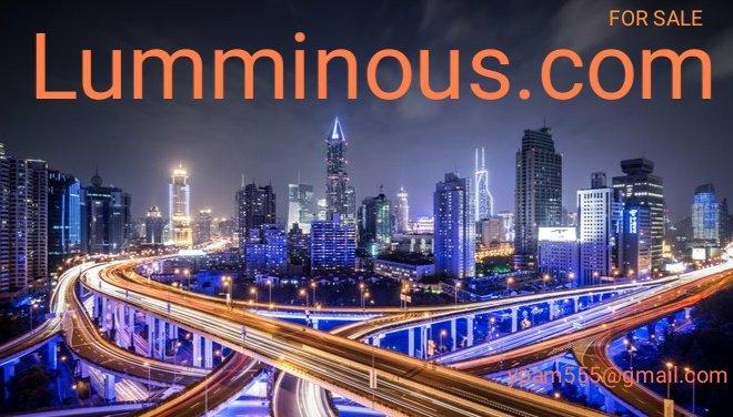 #domain #ForSale #LUMiNOUS #Lumine #brand #brands #Retail #fashion #style #jewelry #LED #diamonds