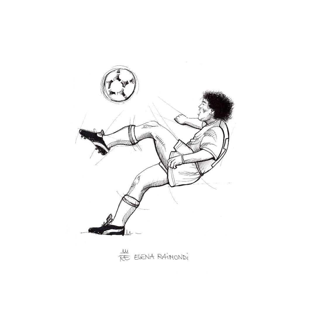 """""""I rigori li sbaglia solo chi ha il coraggio di tirarli."""" #maradona #Art by @ELENARE17 #illustrazione #illustration #diegoarmandomaradona #d10s #drawing #disegno #Calcio #Napoli #Italia"""