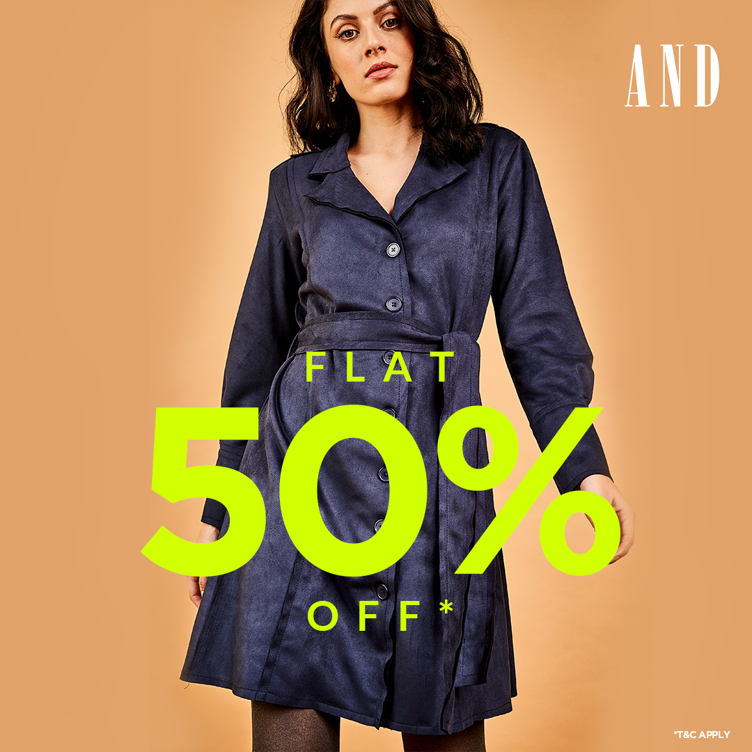 Missing out on some Cool collection in your wardrobe? Its time to Stock Up with the Best Collections on FLAT 50% in store for you by @stylebyand See you soon at #GVKOne! #StyleByAND #ANDWoman #offers #sales #ootd  #ootdfashion #EOSS #ootdstyle #Mall #Hyderabad #BanjaraHills