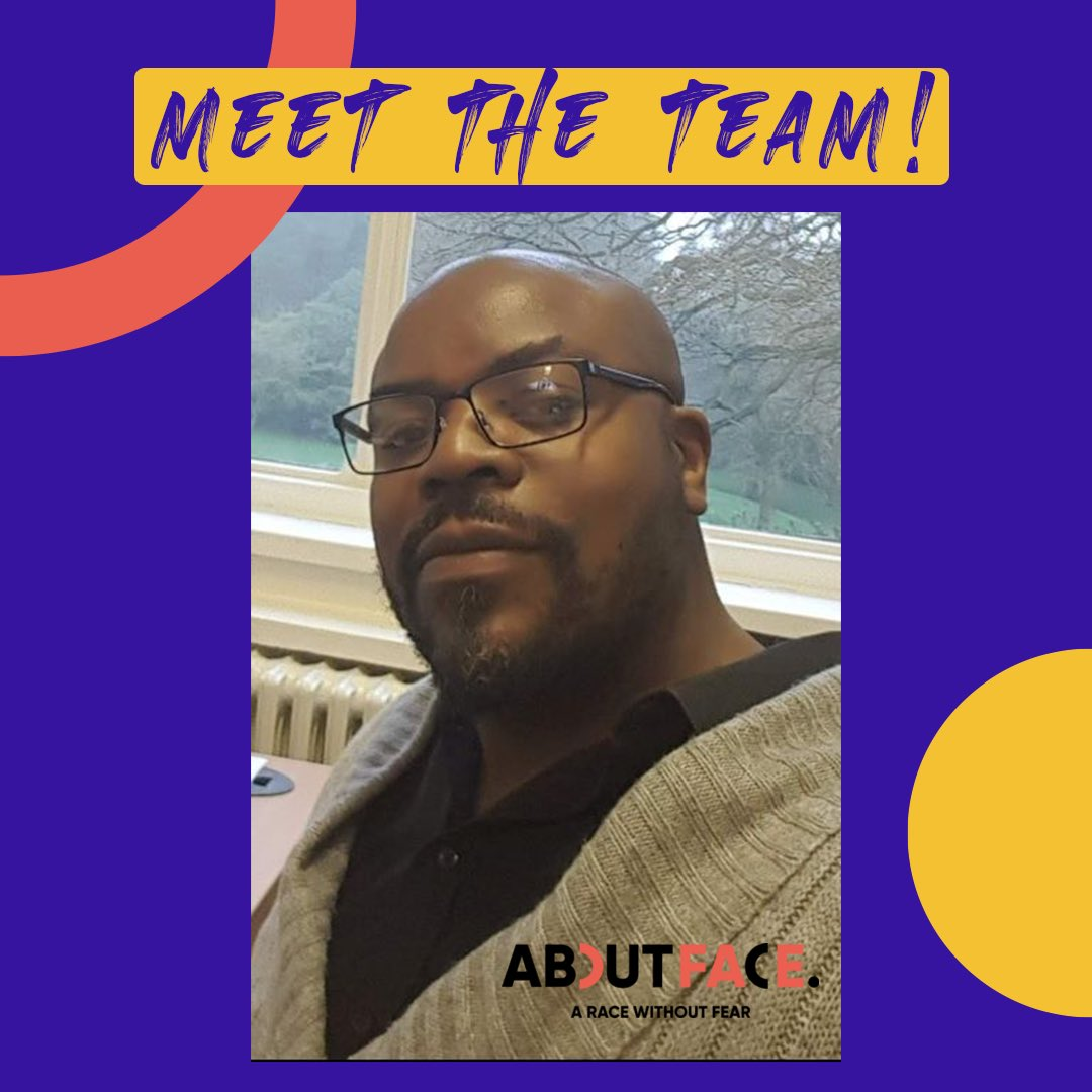 Meet Cliff, The CEO of AboutFace ✊🏾 • To learn more about Cliff and read his blogs, head over at our website  .  • #antiracism #AboutFace #powertothepeople #cliff #faulder #ceo #meet #the #team