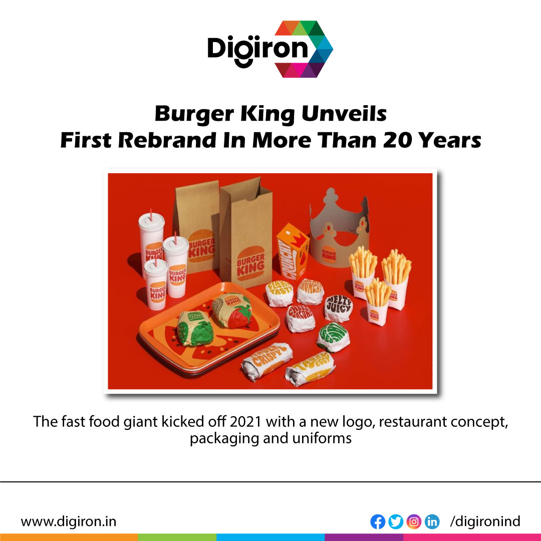 Burger King Unveils First Rebrand In More Than 20 Years.  Check the link in our bio. @digironind   #burgerking #rebrand #fast_food #fastfood #branding #amazing #food #instafood #healthy #burgers #company #brand #product #marketing #marketing #restaurant #logo #uniform #packaging