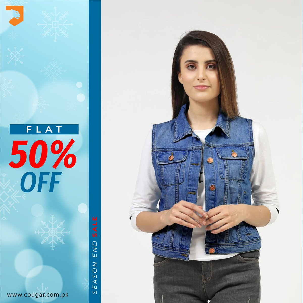 All New Jackets at FLAT 50% OFF on Season End Sale. For more details:    #cougarclothing #cougarcrew #jointhecrew #eoss #newstyles #sale #women #onlineshopping #denim