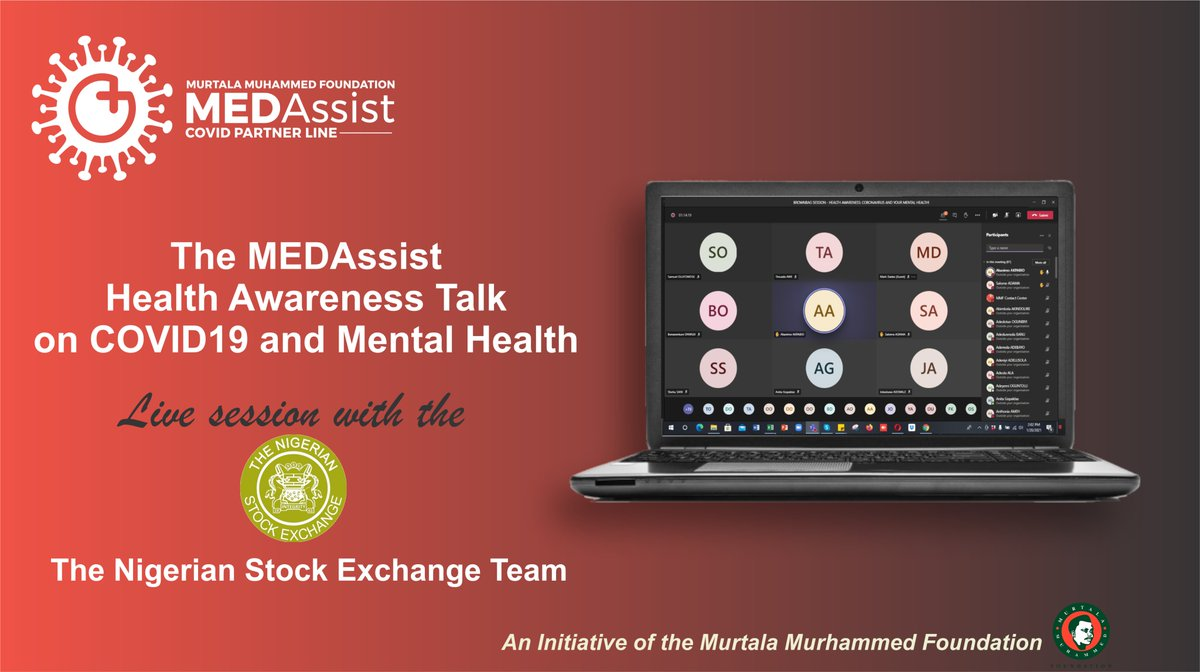 The free #MEDAssist live health talk session on #COVID19 & #mentalhealth with beneficiary @nsenigeria  Boosting productivity in work spaces.  You too and your team can enrol for a free session with our seasoned medical practitioners by clicking