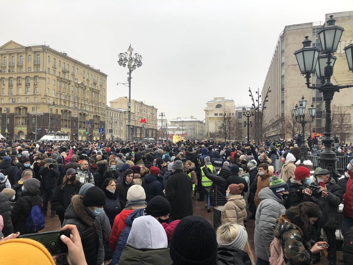 Moscow. 15 mins before protest due to start https://t.co/anwqHsmfdS