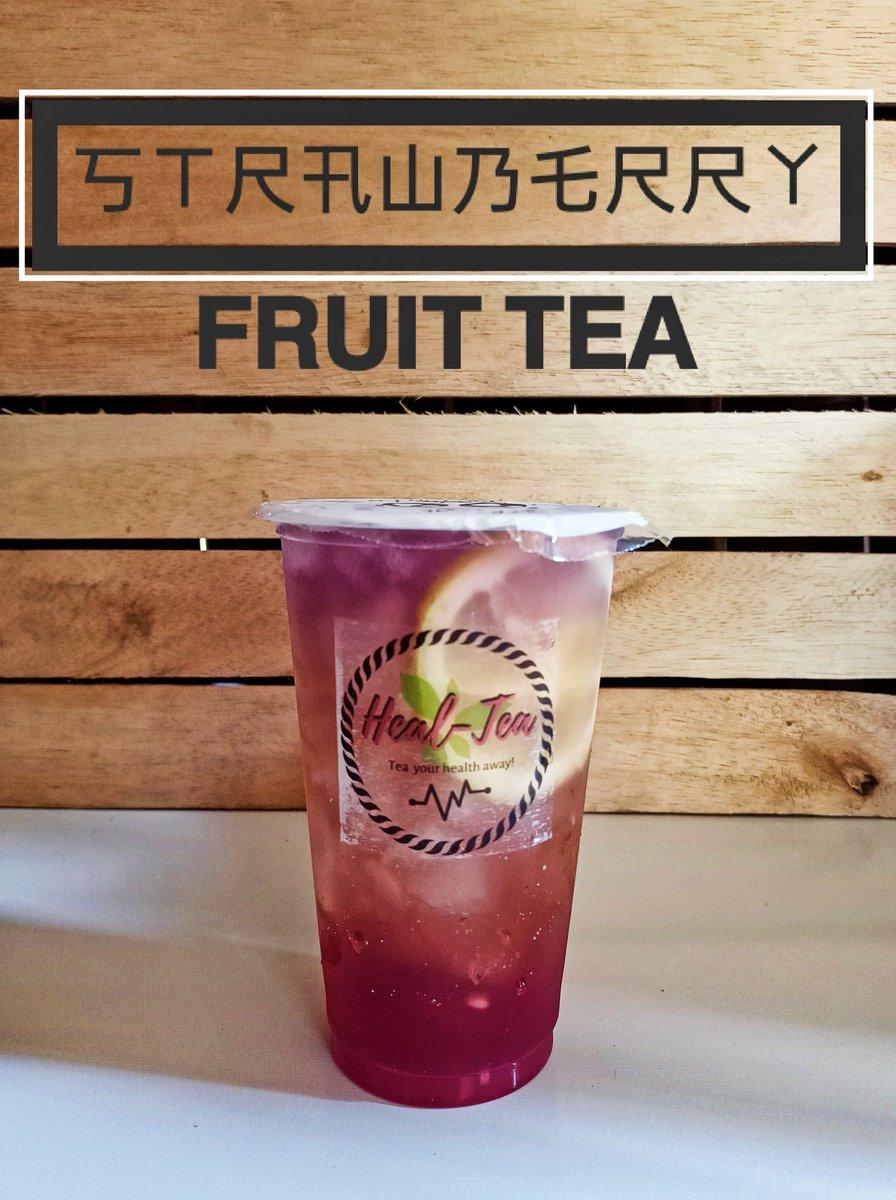 Strawberry Green Tea top with Lemon and Blue Ternate.  #LEMONADE #healteashop
